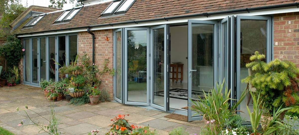 Aluminium bi-fold doors Norwich
